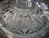 Hearts & Bows Candy Dish Round Glass Bowl w/Lid Great Vintage Gift Ideas for Home and Living Decor