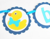 Baby Shower Banner , BABY Duck Banner, Baby shower  Baby party banner, rubber ducky banner  A701