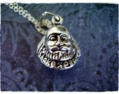 Silver Shakespeare Necklace - Sterling Silver Shakespeare Bust Charm on a Delicate 18 Inch Sterling Silver Cable Chain