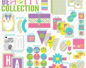 Spring Easter PRINTABLE Party 'Be Hoppy' Collection by Love The Day