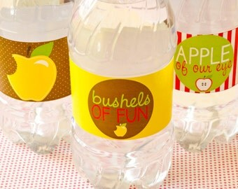 Apple Party PRINTABLE Drink Labels (INSTANT DOWNLOAD) by Love The Day