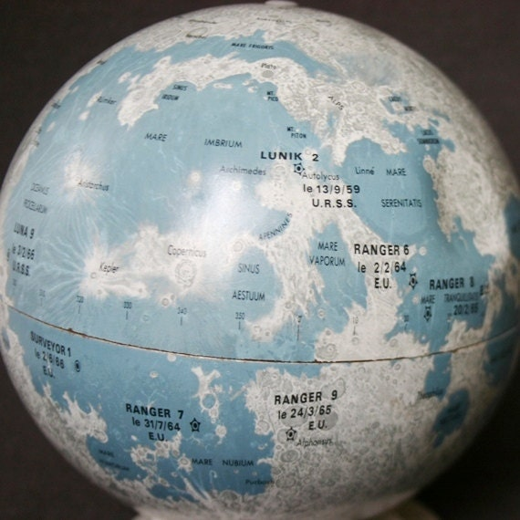 I'd give you the Moon. Vintage replogle astral globe.
