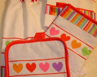 Valentine Dish Towel Set