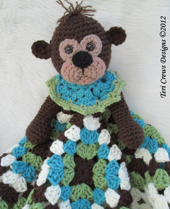 Free Crochet Pattern Huggy Blanket : Crochet Pattern Monkey Huggy Blanket by Teri Crews instant