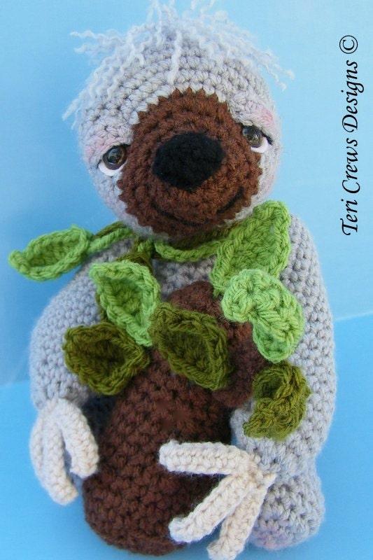 Crochet Pattern Sloth by Teri Crews Instant Download PDF
