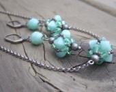 Mint Green Jewelry Set - Green Wedding Jewelry Set - Green Swarovski Crystal Jewelry Set - Green Bridesmaid Gift - Rustic Wedding Jewelry