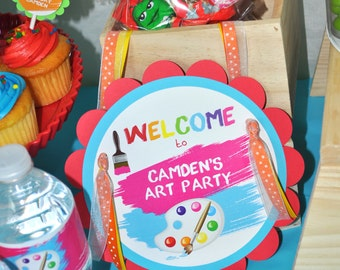 Artist Party Door Sign - Painting Party Welcome Sign - Artist Birthday Party Decorations