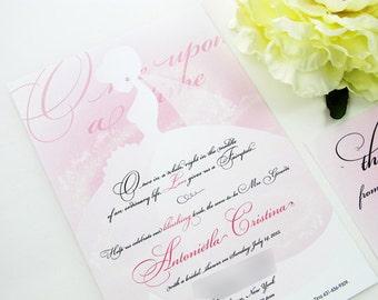 Princess Theme Bridal Shower Invitation Cinderella Bridal