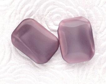 18x13mm Vintage Amethyst Moonstone Octagon Glass Gems Jewels Stones, Unfoiled, Quantity 2