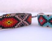 Huichol Native American Inspired Beaded Bracelet Your Choice - Original Designs A or B
