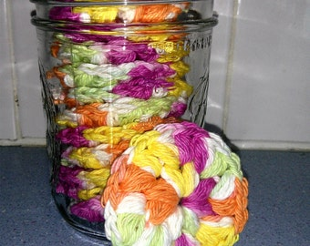 Reusable Crocheted Cotton Rounds and Scrubbies