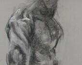 "Life Drawing - pastel on paper - 19.5 x 27.5"" original drawing ""Drawing 131"""