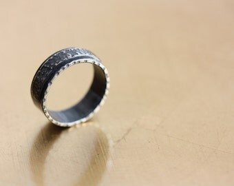 RING of Ancient Inspiration - Textured Silver Ring - Simple Band
