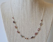 Maine Watermelon Tourmaline and Garnet Necklace