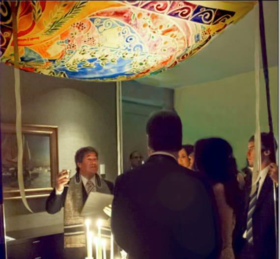 CUSTOM CHUPPAH - personalized Chuppah - Hebrew English - Jewish wedding canopy - Wedding chuppah - Fabric - Judaica Art - Jewish Holidays