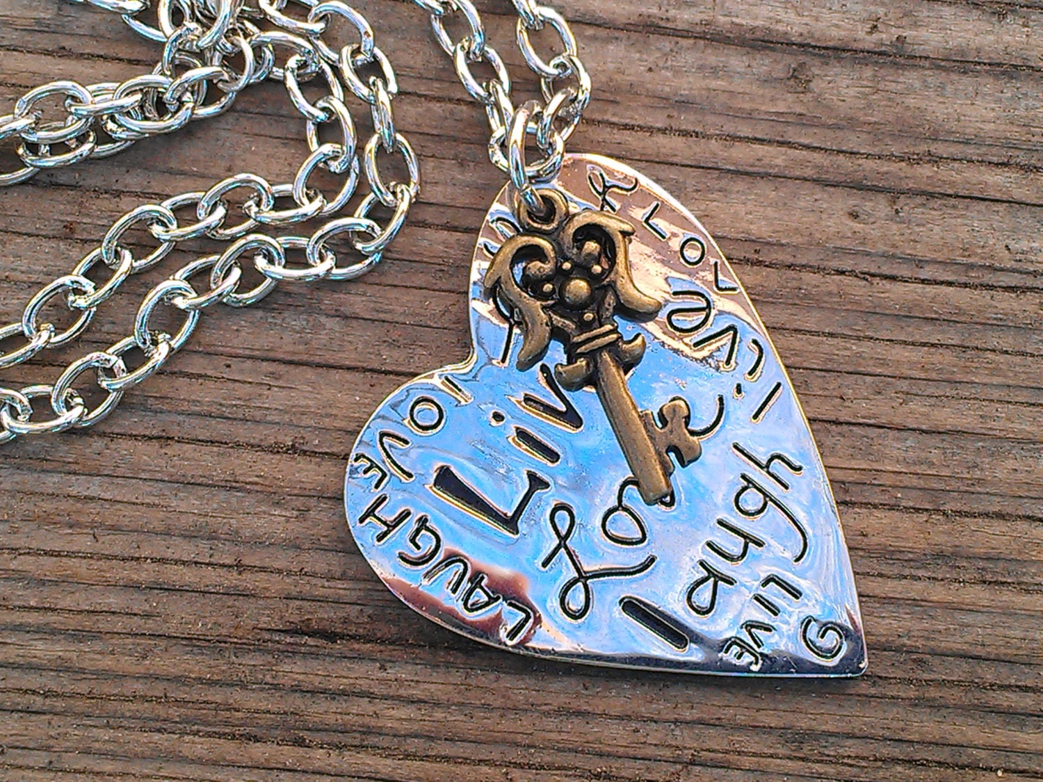 Items similar to Inspirational Jewelry Live Laugh Love ...