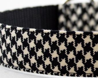 Houndstooth Dog Collar - Black White