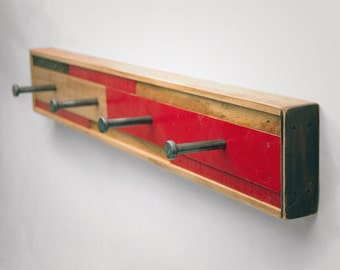 4 Hook Coat Rack Recycled Wood (Scarano Style)