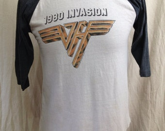 Vintage Van Halen 1980 Invasion t-shirt 1980s concert T shirt tour