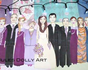 Portrait-10 People/Animals (Family/Friends/Wedding/Group size A3)