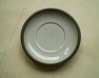 Bing & Grondahl Tema Stoneware Saucer - Made in Denmark - Mid Century Danish Design - Grey Green Brown Black