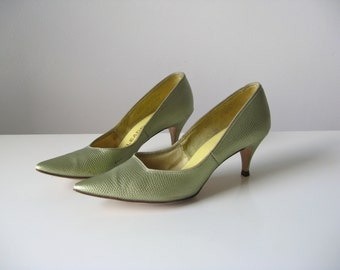 vintage 1950s shoes / 50s heels / Spring Dream