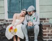 handmade felt wedding bouquet