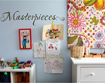 Wall Quotes Vinyl Decal, Masterpieces Decal