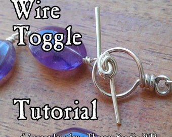 TUTORIAL  Wire Toggle Clasp (T-bar and Ring Loop)