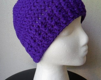 Debbie Hat in Amethyst - Beanie Beenie Cloche Cap - Ready to Ship - FREE US Shipping
