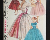 Vintage Simplicity 1795 Kimono Sleeved Ball Party Dress Gown 1950's Sash Full Skirt Size 11 Bust 31