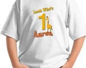 Giraffe Birthday Shirt - Happy Birthday Giraffe Animal BIG Number T-shirt 1ST,2ND,3RD,4TH,5TH,6TH,7TH,8TH,9TH with age and personalized name