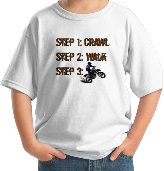 Future steps crawl walk dirt biker infant toddler youth t-shirt bike dirtbike dirt bike