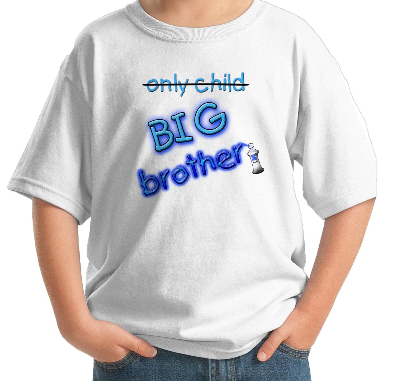 Big brother shirt only child big brother graffiti custom for Custom t shirts buffalo ny