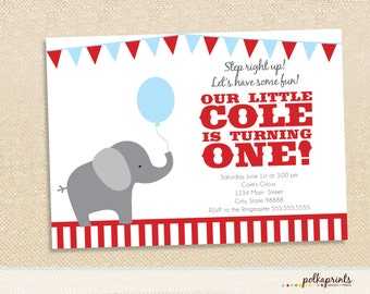 Circus Birthday Invitations set of 12