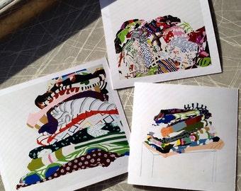 Mini Print Set Paintings P I L E S  Collection Reproduction Art
