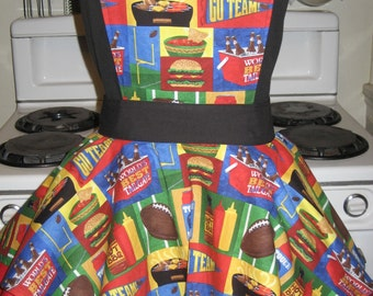 Ladies BBQ Sassy Pin Up Vintage Inspired Fancy Hostess Apron