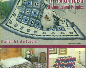 Afghan Favorites GRANNIES AND RIPPLES American School of Needlework 1980 Knitting and Crochet