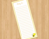 To Do List in Honey Pattern, printable