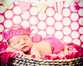 Newborn Baby Girl Photo Prop Crown