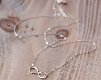Infinity Necklace - Sterling Silver - Simple Everyday Necklace - Layering Necklace - Anniversary Gift