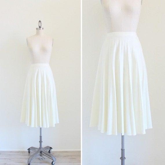 vintage pleated skirt white pleat skirt accordion