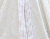 White Striped Belt - Cotton Handwoven Sash