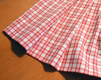 Vintage Child Apron Hello kitty Red Gingham Pattern