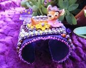 Disney Bambi embroidered cuff bracelet