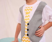 boys Easter day shirt, Easter chevron tie shirt, Sibling Easter outfit