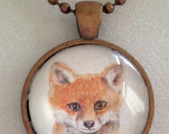 Little Fox Copper Pendant