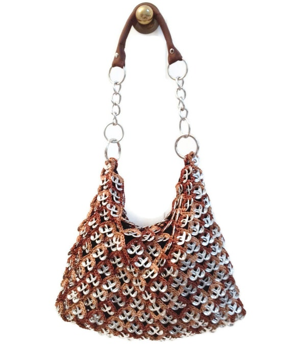 Crochet Hobo Bag Pattern : ... Pattern Hobo - Pop Tab Crochet Shoulder Bag, Handbag or Shoulder Purse
