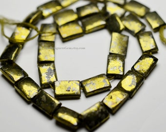 Natural Chlacopyrite Cushion Rectangle 12 x 9mm- 1/2 STRAND