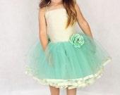 Flower Girl Princess Tutu Dress with Dupion Silk bodice and underskirt szs 6 mths - 4 years